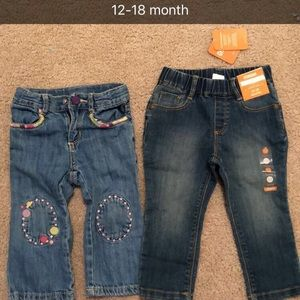 12-18 month girl jeans